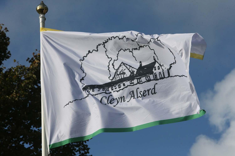 De vlag van Cleyn Alserd